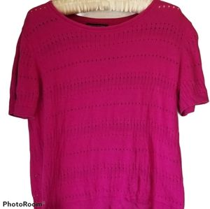 BANANA REPUBLIC OUTLET Pink Short Sleeve Knit Top